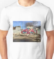 Tropical Graffiti in Memphis Unisex T-Shirt