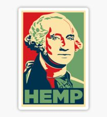 Hemp George Washington Sticker