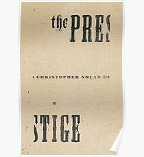 THE PRESTIGE / alternative typographic movie poster Poster
