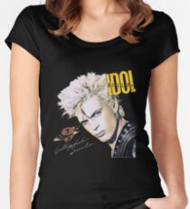 BILLY IDOL neurotic outsiders chelsea 4 Women's Fitted Scoop T-Shirt