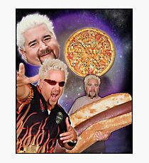 Three Guy Fieri Moon Photographic Print