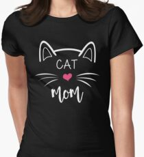 Cat Mom Women's Fitted T-Shirt