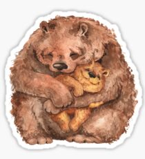 Mama bear and baby bear Sticker