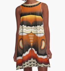 Lepi-Pop 02. Hyalophora cecropia A-Line Dress