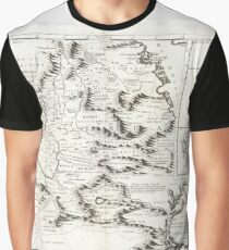 Antique Map - Coronelli's Abyssinia (1690) Graphic T-Shirt