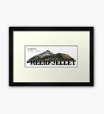 Arctic Svalbard mountains. Heerfjellet Framed Print