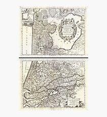 Antique Map - Coronelli's Netherlands (1690) Photographic Print