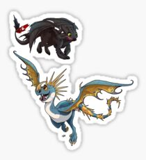 Toothless and Stormfly Sticker