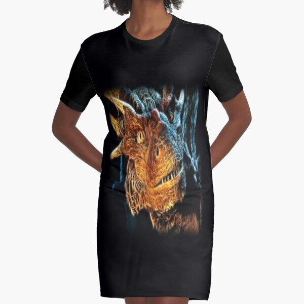 Draco The Dragon From The Hit Dragonheart Movie Graphic T-Shirt Dress
