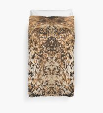 Rustic Chic Country Western Longhorn Cowhide Fur Prints Duvet Cover