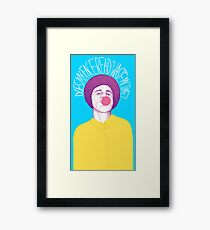 Does My Face Read Waste My Time Framed Print