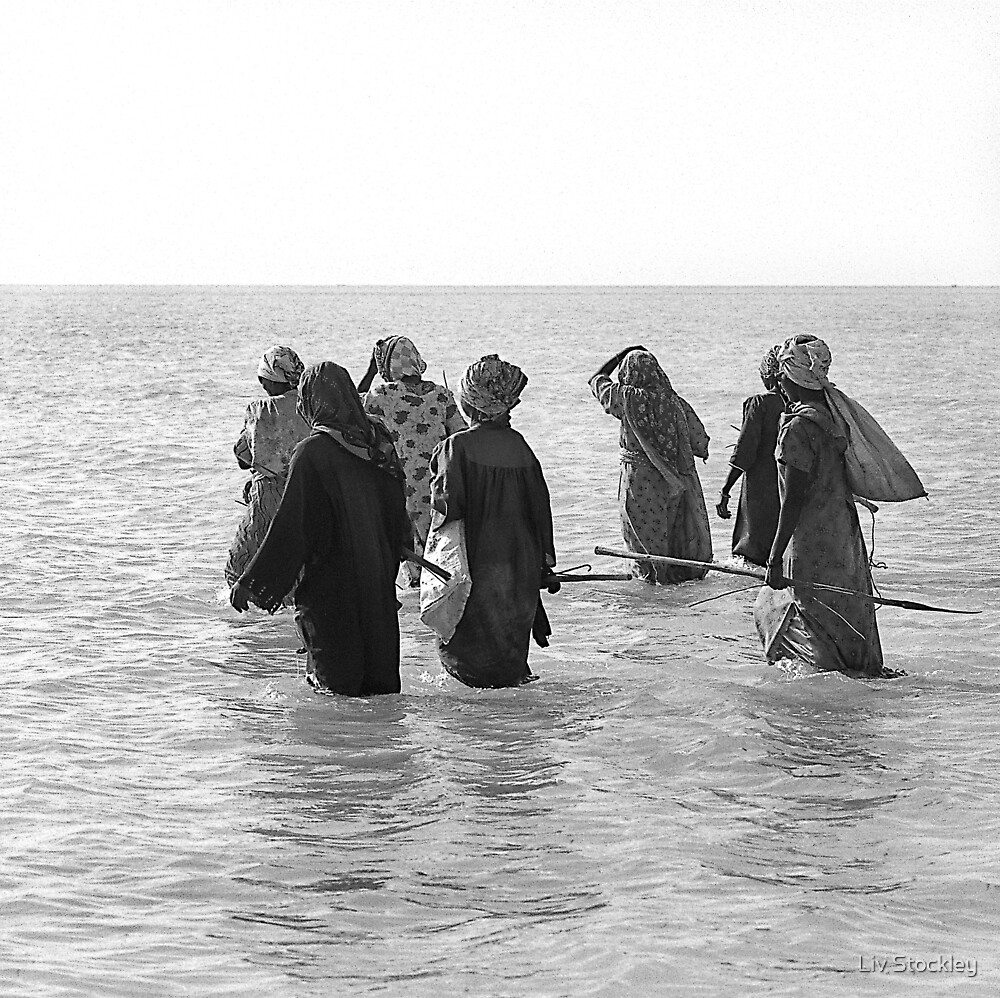 Seaweed gatherers by Liv Stockley
