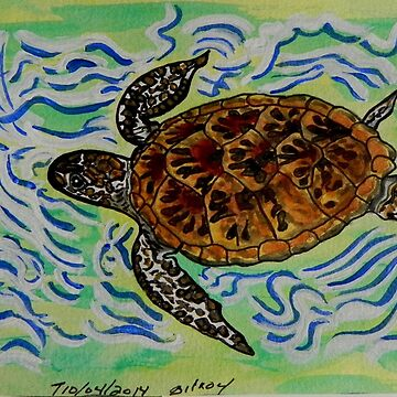 Sea Turtle Art ... t37 by whiteygilroy