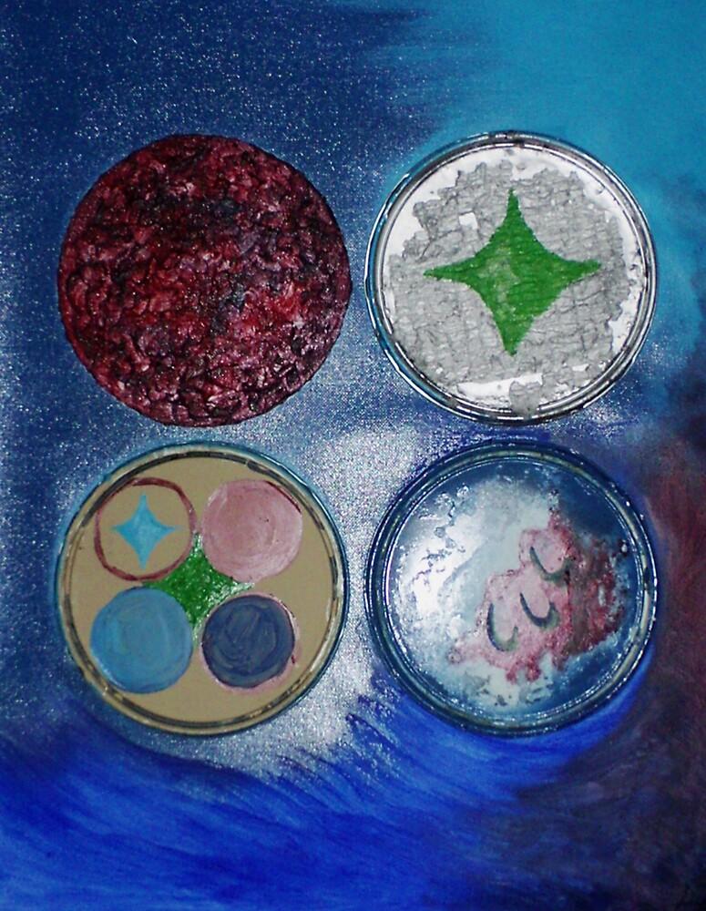 Paint Can Lids (Mixed Media)-  by Robert Dye