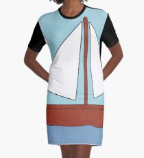 Simpsons boat picture Graphic T-Shirt Dress