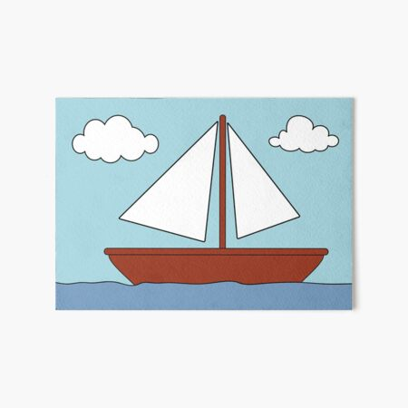 Simpsons boat picture Art Board Print
