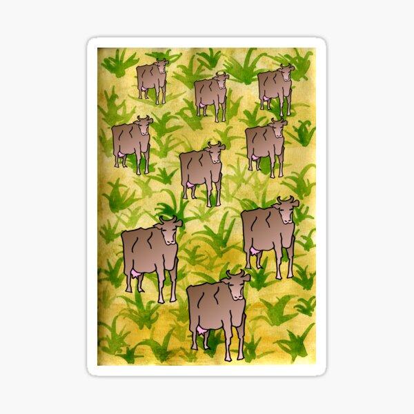 Cows in a field Sticker