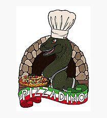 Pizza Dino Photographic Print