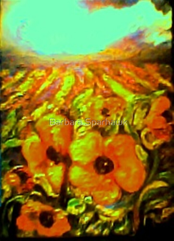 Lavender Fields, Poppies in the Storm, SOLD 7/09 by Barbara Sparhawk