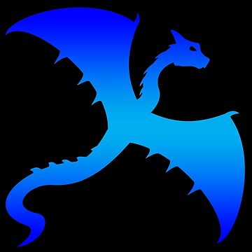 Blue Flying Dragon Design by LuckDragonGifts