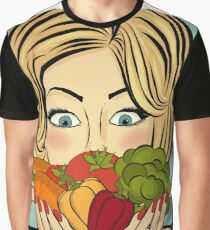woman with vegetables Graphic T-Shirt