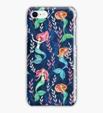 Merry Mermaids in Watercolor  iPhone Case/Skin