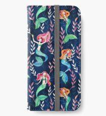 Merry Mermaids in Watercolor  iPhone Wallet/Case/Skin