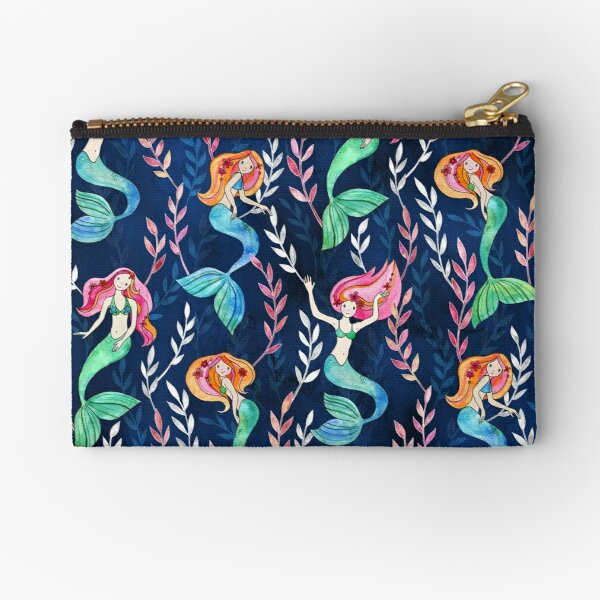 Merry Mermaids in Watercolor  Zipper Pouch