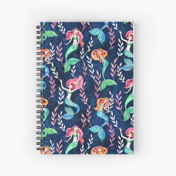Merry Mermaids in Watercolor  Spiral Notebook