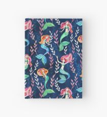 Merry Mermaids in Watercolor  Hardcover Journal