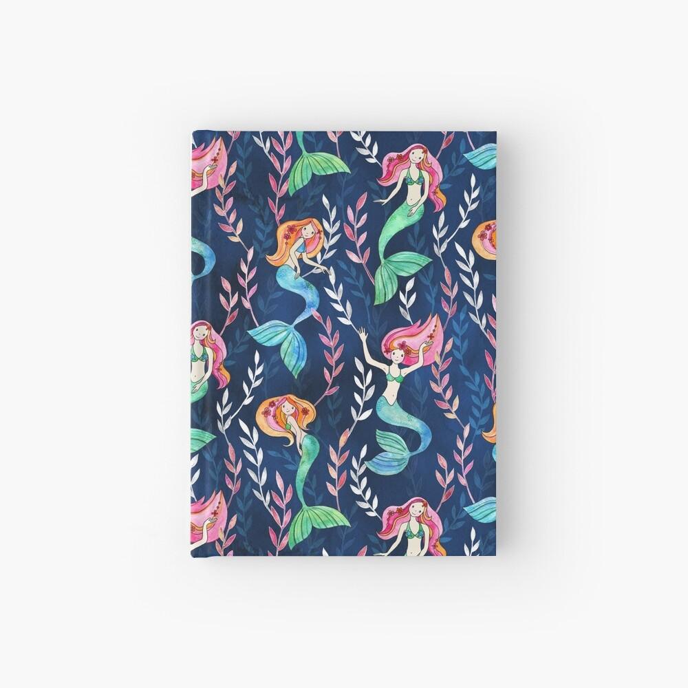 Merry Mermaids in Watercolor  Hardcover Journal
