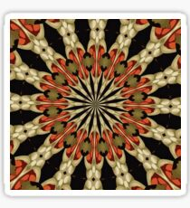 Coral With Caramel and Cream Mandala Sticker