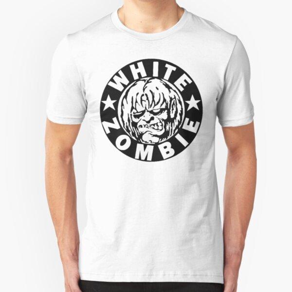 Weißer Zombie (Schwarz) Slim Fit T-Shirt