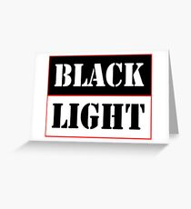 Black light red Greeting Card
