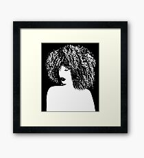 Afro 2 tone Framed Print