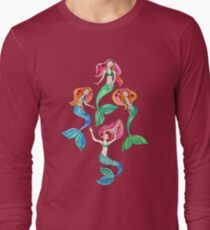 Merry Mermaids in Watercolor  T-Shirt