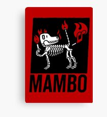 MAMBO FARTING DOG Canvas Print