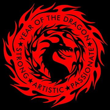 Chinese Zodiac Year of The Dragon Graphic Design by LuckDragonGifts