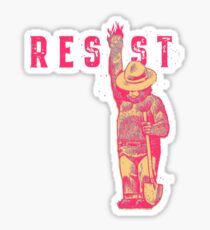 bear resits Sticker