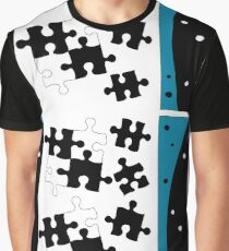 Puzzle in Turquoise Graphic T-Shirt