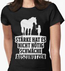 Pferde - Stärke Womens Fitted T-Shirt