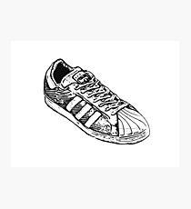 Shelltoe Sneaker Photographic Print