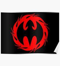 Fire Dragon Design, DRAGAN GRAFIX Logo Design Poster