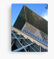 Looking up Contemporary Architecture  Canvas Print