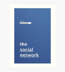 THE SOCIAL NETWORK / alternative typographic movie poster Art Print