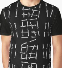 Nails Pushed Through Pattern Black By BoardZombies Graphic T-Shirt