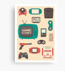 Retro video games Canvas Print
