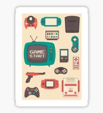 Retro video games Sticker