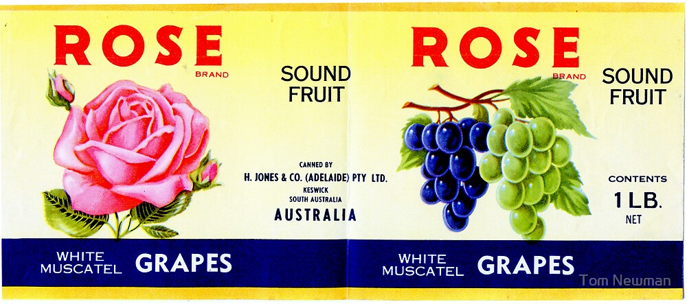 AJC Can Label - Grapes by Tom Newman