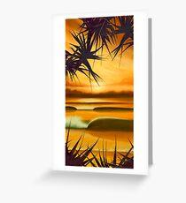 Pandanus Sunrise Greeting Card